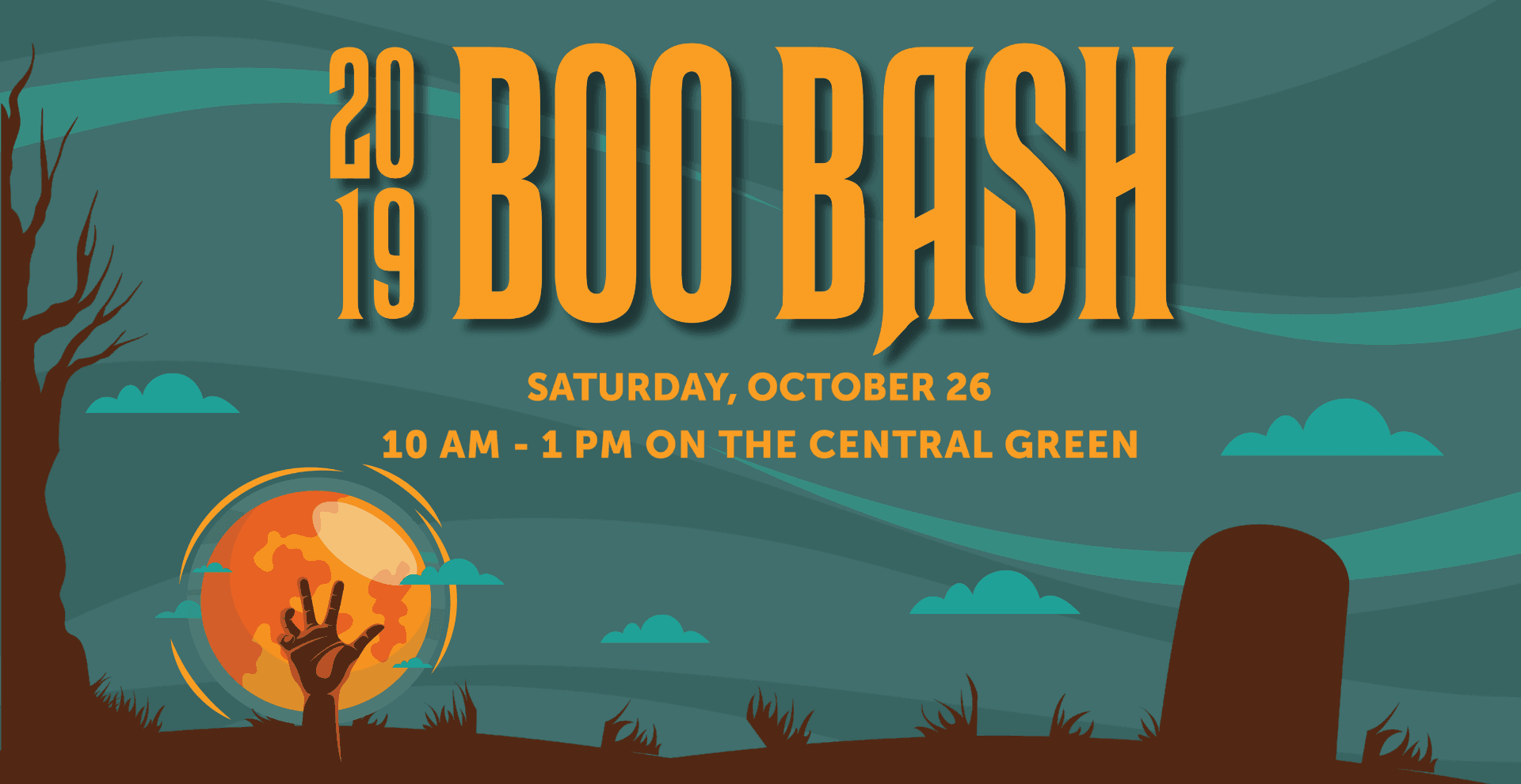Boo Bash  saturday, october 26 10 am - 1 pm on the central green