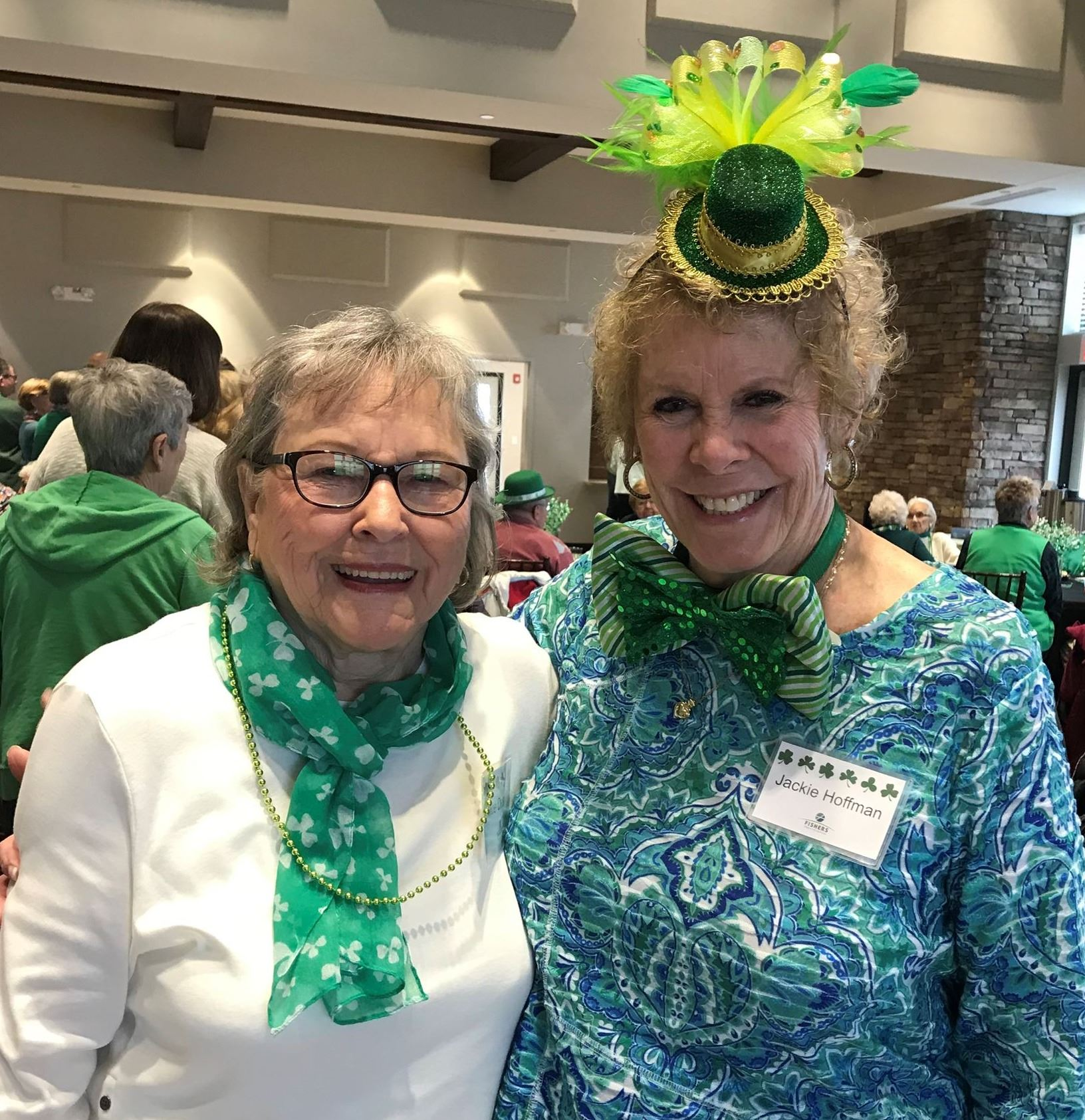 women at st. patrick's day lunch