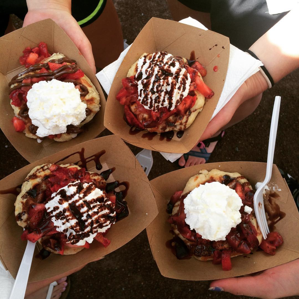 Walking Waffle Co. food