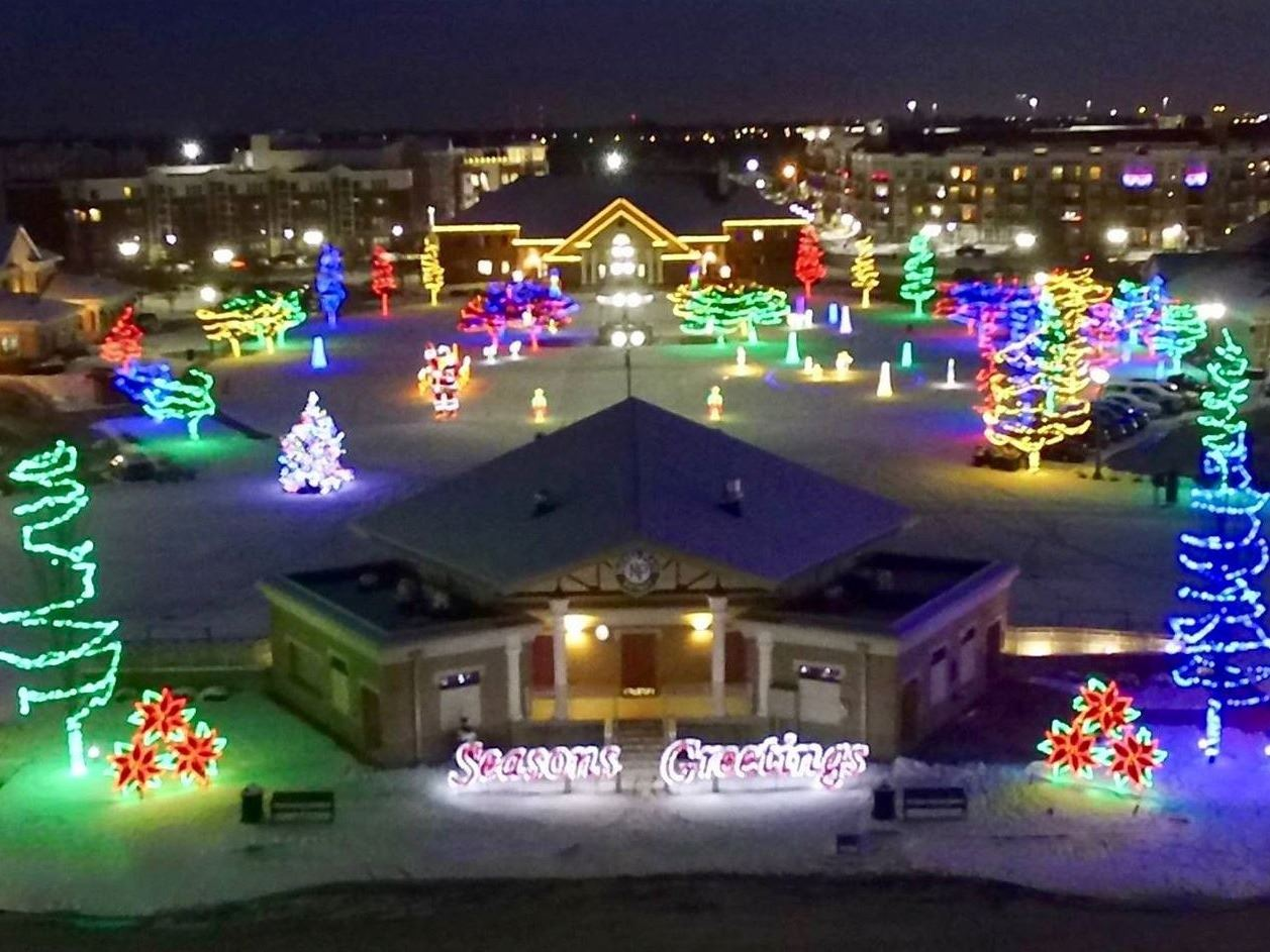 winter lights at the npd